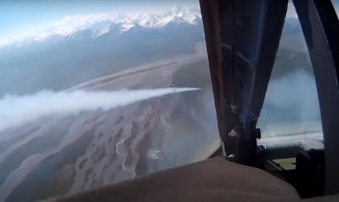 ЛТУ Су-25СМ российской авиабазы Кант в Киргизии — видео