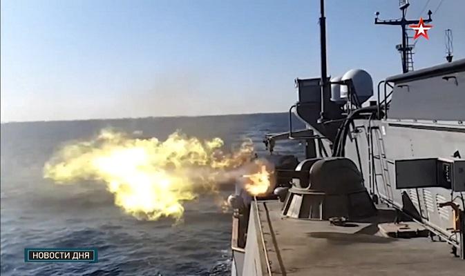 Первая стрельба «Алдара Цыденжапова» — видео Японское море