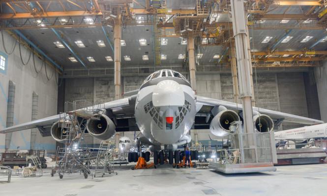 «Авиастар-СП» испытал на герметичность очередной Ил-76МД-90А