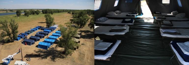 В Волгоградской области на острове Зеленом подготовлен полевой палаточный пункт для размещения людей с Юго-востока Украины