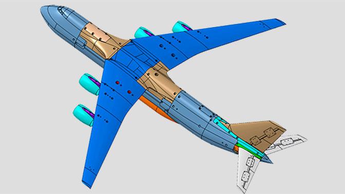 ЦАГИ сконструировал аэродинамическую модель транспортного самолета «Слон»