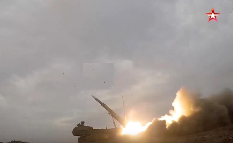 Кадры запуска ракет комплекса ПВО «Бук-М3» — видео с экшн-камеры