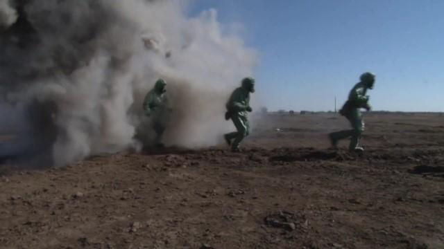 Войска РХБЗ ликвидировали последствия «техногенной катастрофы» на полигоне Прудбой
