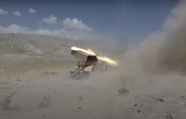 Боевая подготовка артиллеристов 201-й российской военной базы в Таджикистане — видео