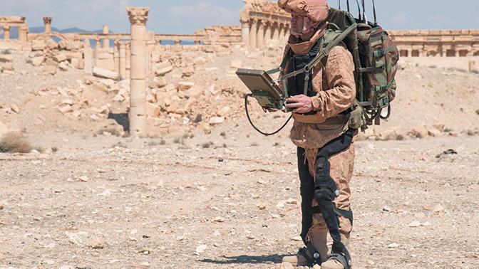 Разработчик рассказал об испытаниях в Сирии экзоскелета для российской армии