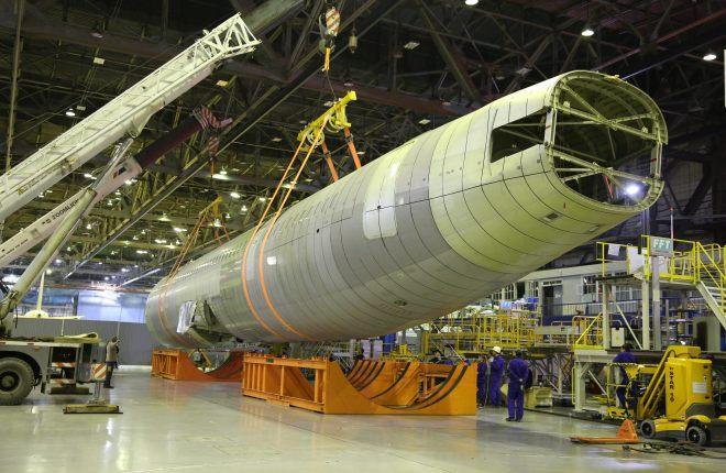 Фюзеляж МС-21 для ресурсных испытаний доставили в Жуковский
