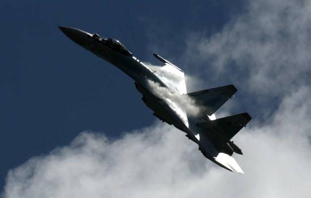 Россия провела эксперимент с участием группы Су-35, роль командно-штабного самолета выполнял Су-57