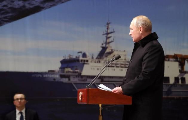 Путин принял участие в закладке корабля ледового класса «Николай Зубов»