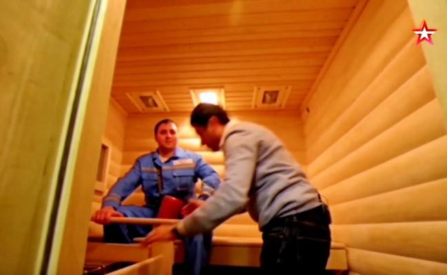 «Подводная» парилка: устройство бани на борту субмарины «Князь Владимир» — видео