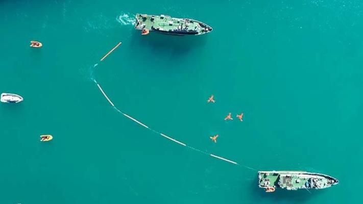 Черноморский флот — видео учения по специальным видам обеспечения