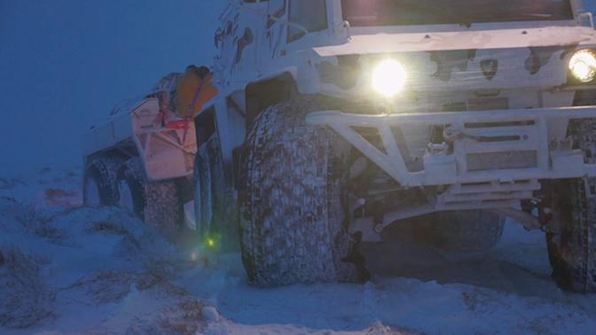 Эксклюзивные кадры испытания вездехода «Кречет» в арктических условиях
