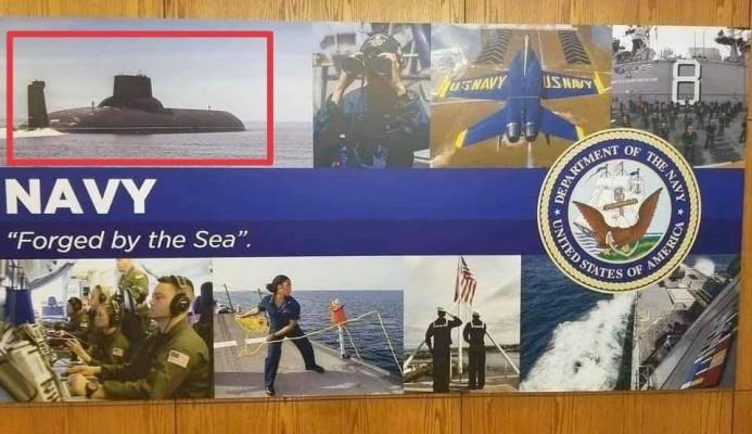 Российская подлодка попала в рекламу ВМС США
