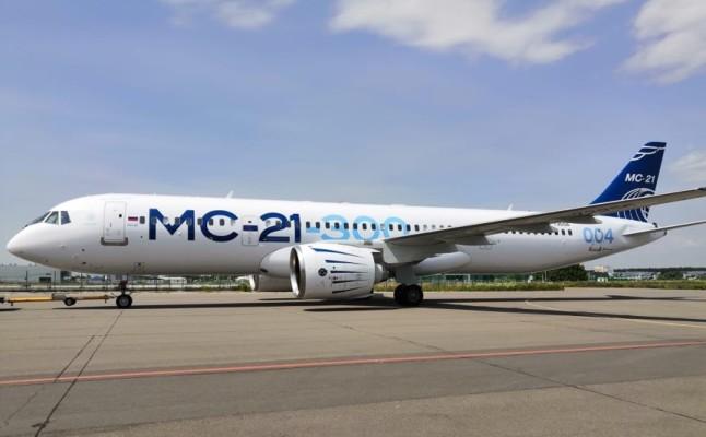 МС-21-300 после покраски в «Спектр-Авиа» в Ульяновске вернулся на аэродром «Раменское»