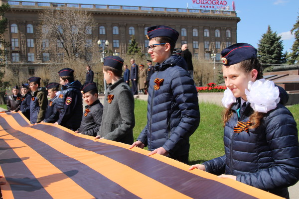 Более пяти тысяч лент раздано в день старта акции «Георгиевска ленточка» в Волгоградской области