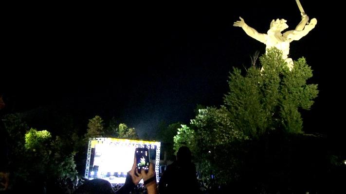 На Мамаевом кургане показали спектакль о восстановлении Сталинграда