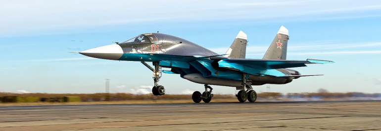 Очередная партия новейших бомбардировщиков Су-34 поступила на военный аэродром в соседней с Волгоградской Ростовской области
