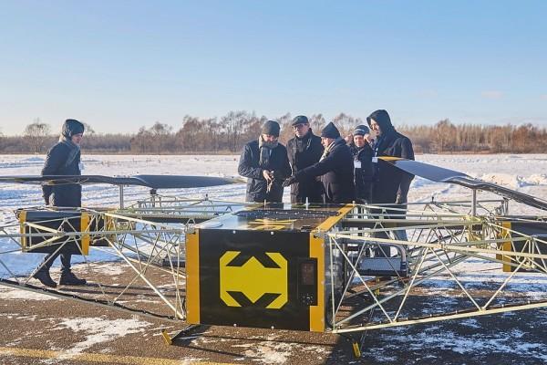 Опубликовано видео полета первого российского грузового дрона