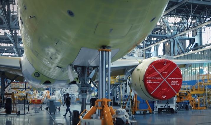 Производство МС-21-300 на Иркутском авиазаводе — видео
