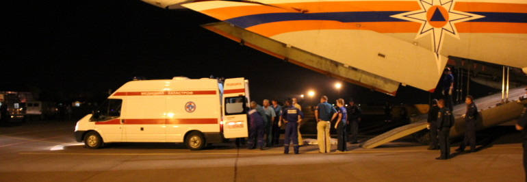 ИЛ-76 доставил в Волгоград 117 человек из Украины, которые будут размещены на Волжской турбазе